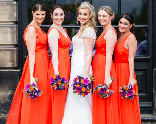 Orange Bridesmaid Dresses