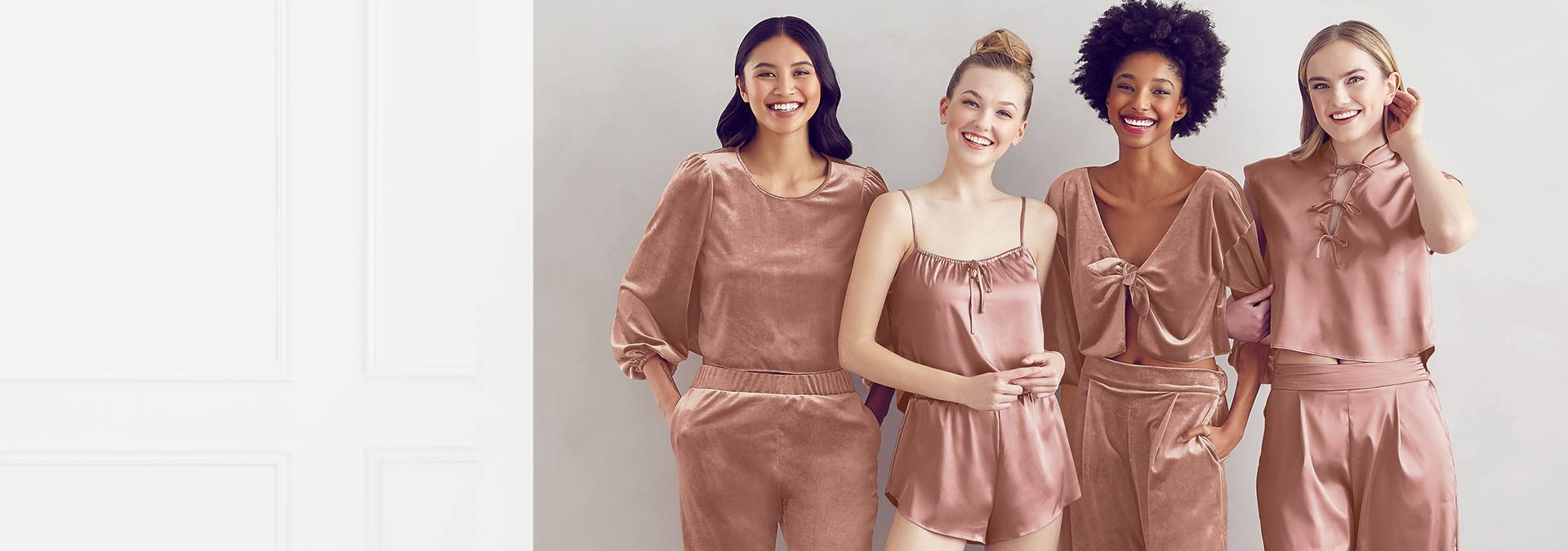Womens Loungewear - Velvet and Satin Pajama Sets