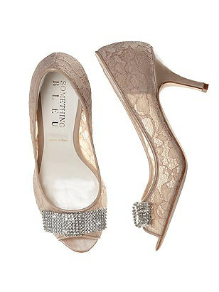 Coco Nude Lace Bridal Peep Toe Pump